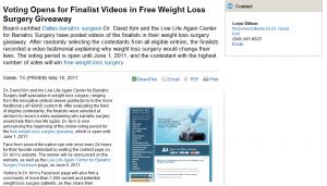 bariatric, surgery, surgeon, free, weight, loss, contest, dallas, tx