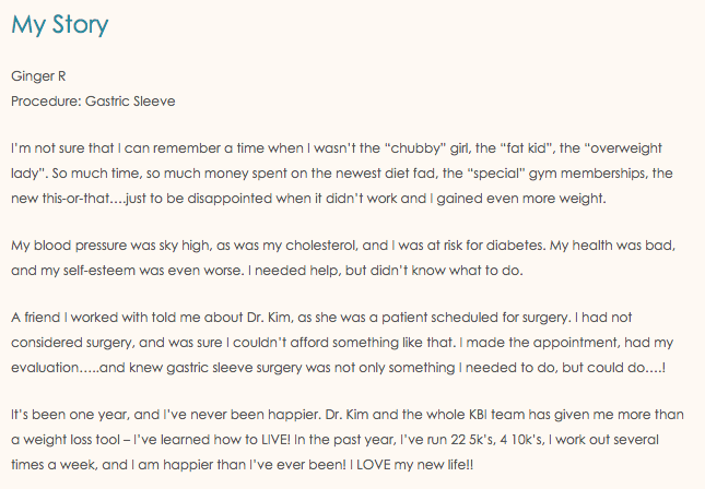 Kim Bariatric Inverted Gastric Sleeve Patient Story